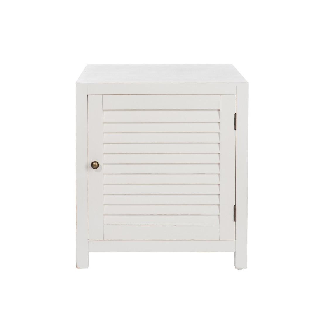 table de chevet en bois blanc boudebois univers de la chambre tousmesmeubles. Black Bedroom Furniture Sets. Home Design Ideas