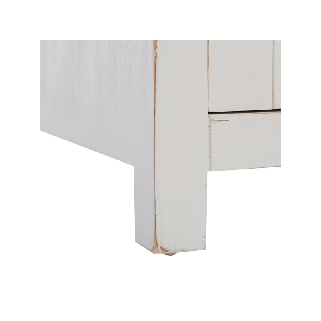 Table de chevet en bois blanc boudebois univers de la - Table en bois blanc ...