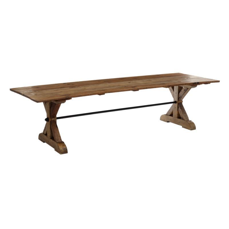Table de repas rectangulaire Bois recyclé foncé - FIGUIG