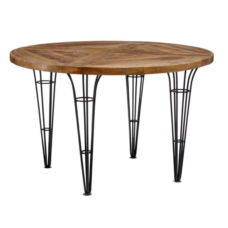 Table de repas ronde Bois/Métal - MIDELT