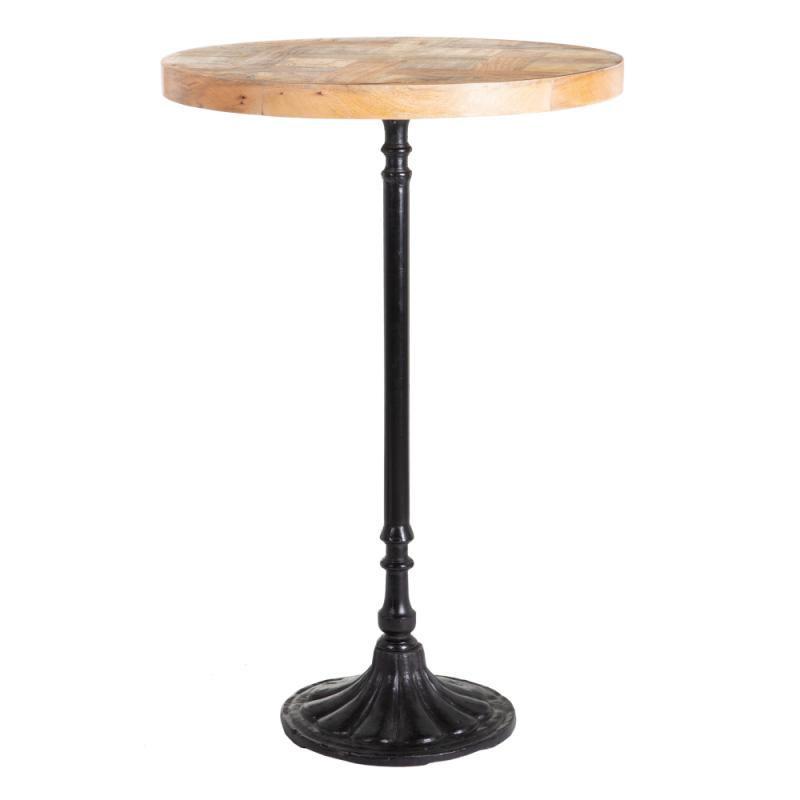 Table haute ronde Bois/Métal - SALY