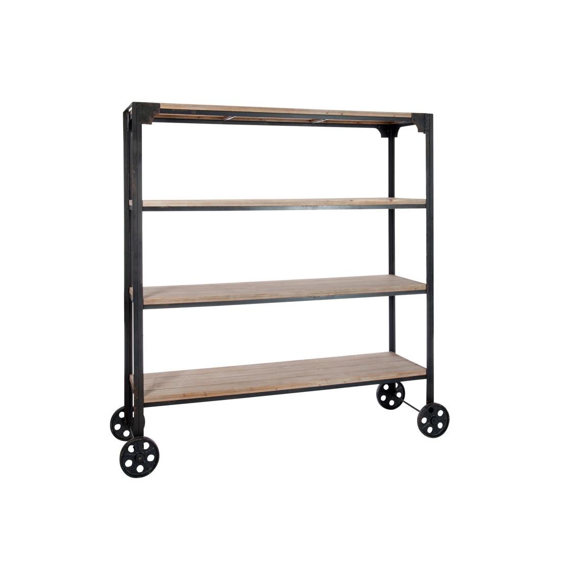 tag re sur roues bois et m tal dock univers petits meubles. Black Bedroom Furniture Sets. Home Design Ideas