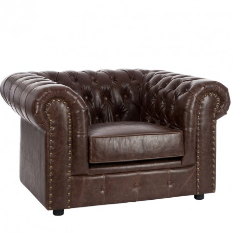 fauteuil chesterfield simili cuir boston univers du salon tousmesmeubles. Black Bedroom Furniture Sets. Home Design Ideas