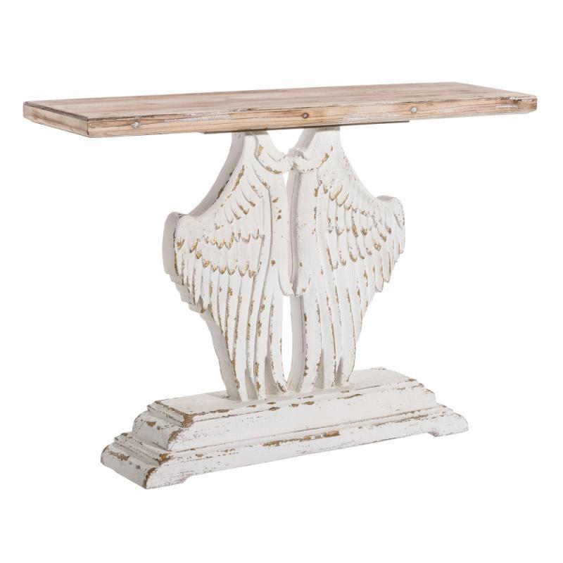 Console ailes d'ange Bois naturel/blanchi - LAMU
