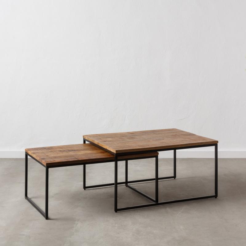 Tables gigognes rectangulaires Bois/Métal - DOUDIA n°1