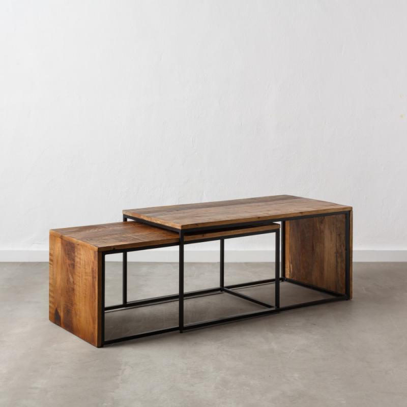 Tables gigognes rectangulaires Bois/Métal - DOUDIA n°2
