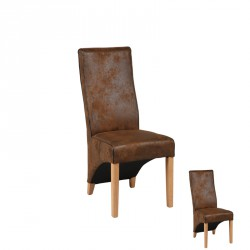 Duo de Chaises Marron - BALI