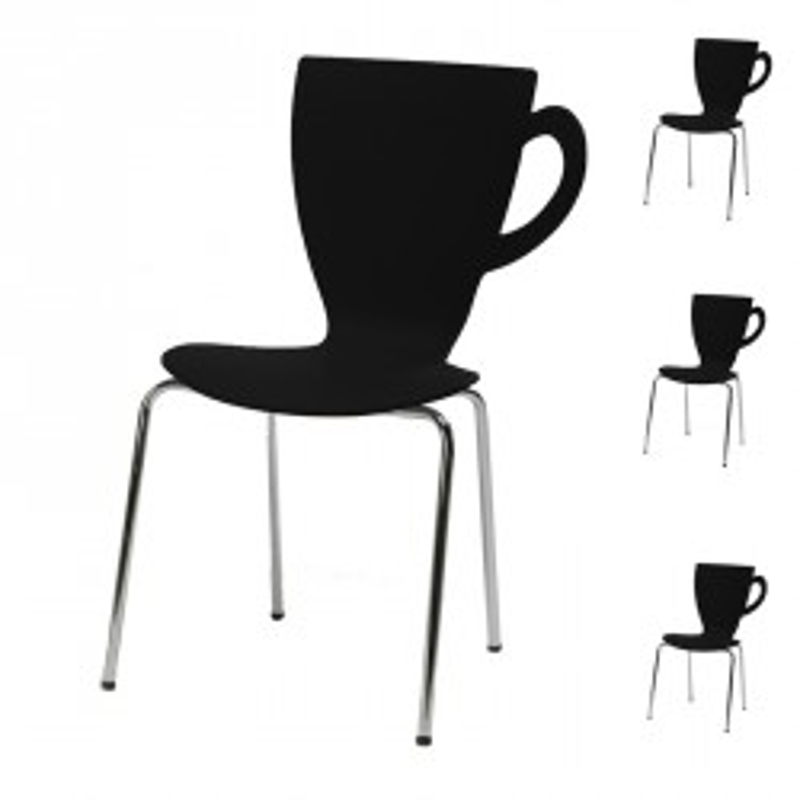 Quatuor de chaises Noires - MUG