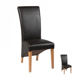 Duo de Chaises Similicuir WENGE - NERO