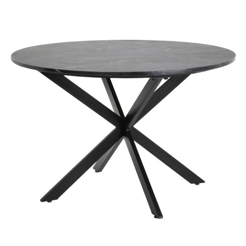 Table de repas ronde Métal/Marbre noir - VIVIONE