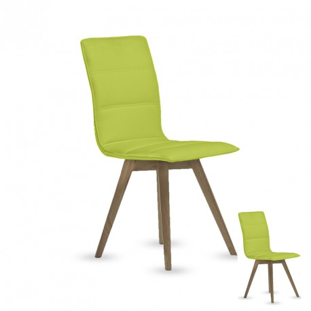 Quatuor de chaise simili cuir Pistache KANO