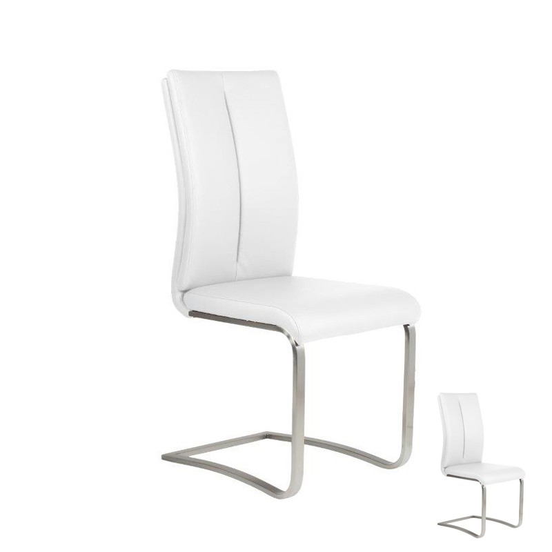 Duo de chaises blanches july univers assises for Chaises contemporaines blanches
