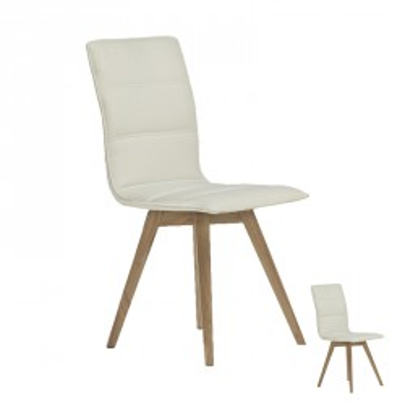 Duo de chaises simili cuir Blanches - KANO