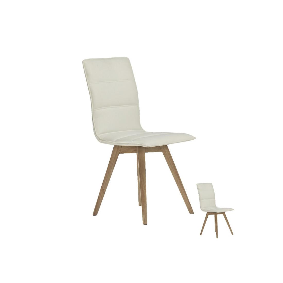 duo de chaises blanches kano univers salle manger tousmesmeubles. Black Bedroom Furniture Sets. Home Design Ideas