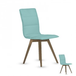 Duo de chaises simili cuir Turquoise - KANO