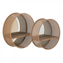Duo de Miroirs ronds Rotin/Cannage - PIERO