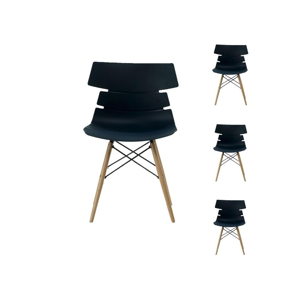 Quatuor de chaises Bleues - SIRY