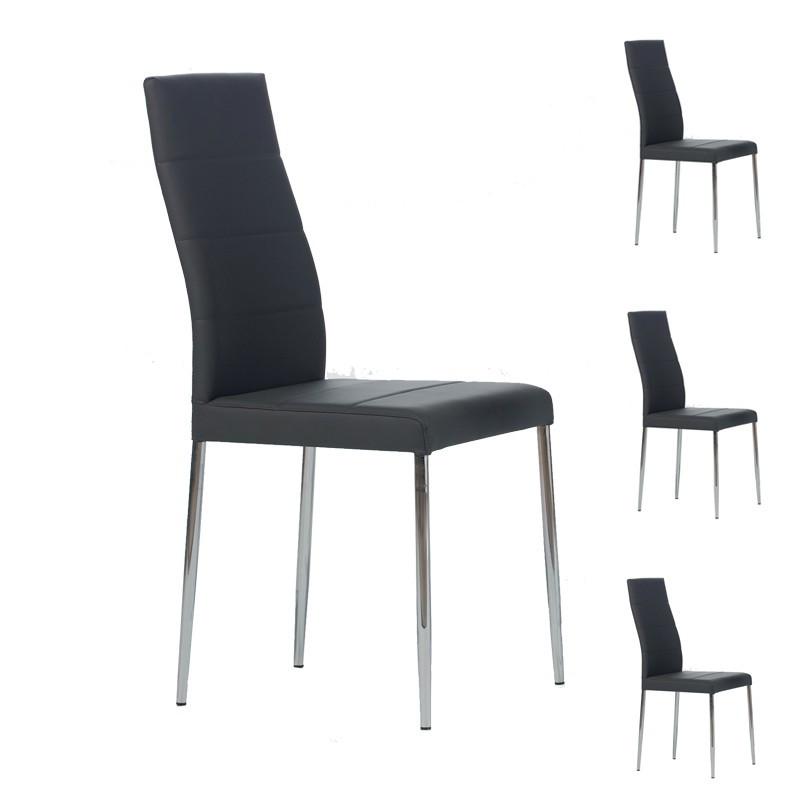 Quatuor de chaises Grises - ALTA