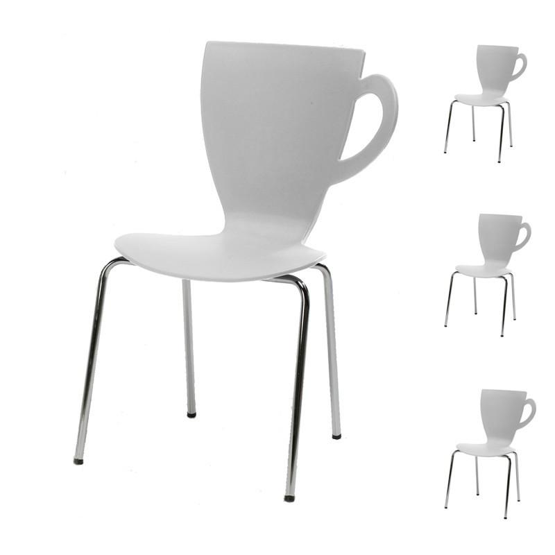 Quatuor de chaises Blanches - MUG