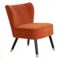 Fauteuil Velours orange - MONIA