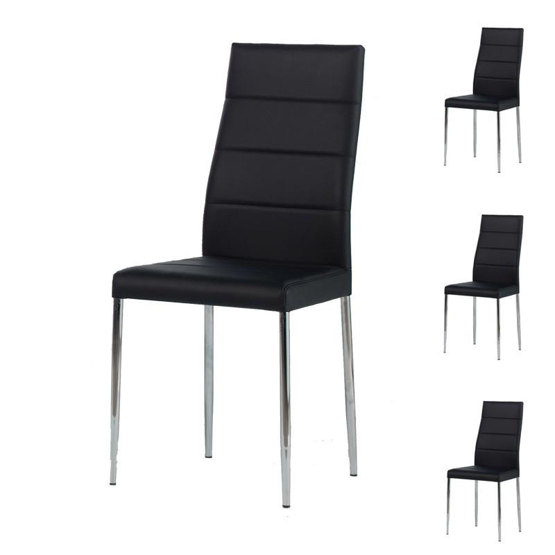 Quatuor de chaises Noires - ALTA
