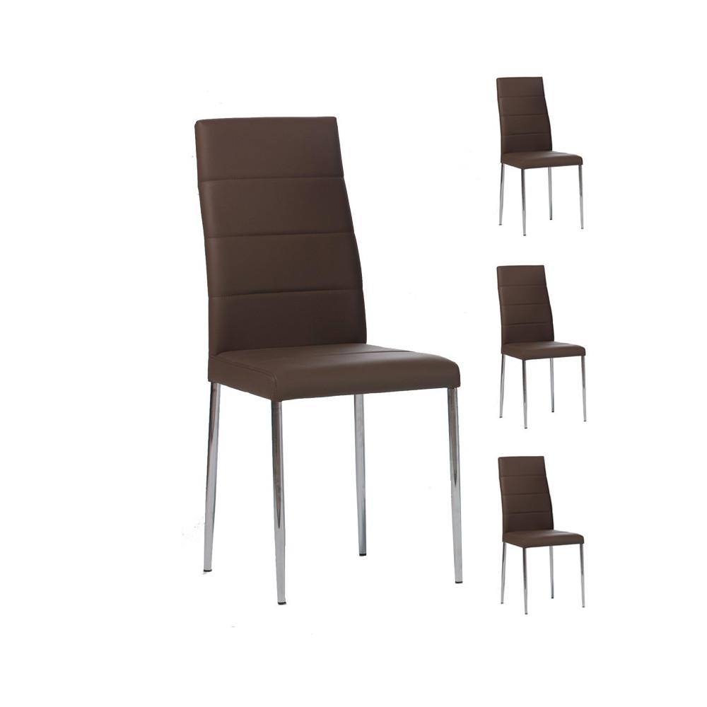 Quatuor de chaises Cappuccino - ALTA