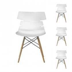 Quatuor de chaises Blanches - SIRY