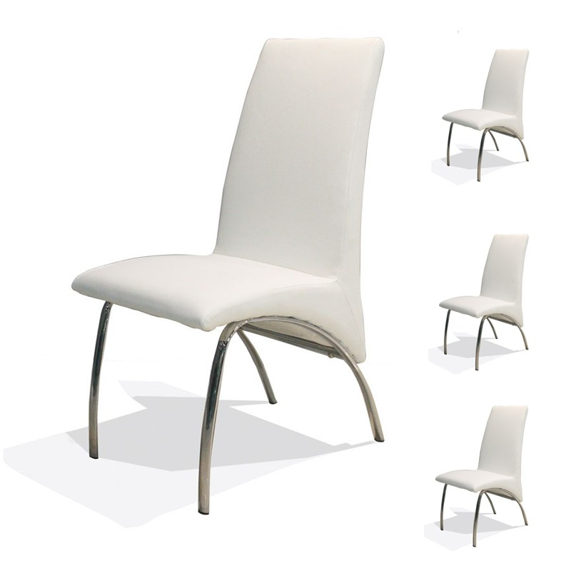 Chaises simili cuir blanc 28 images lot de 4 chaises for Chaise simili cuir