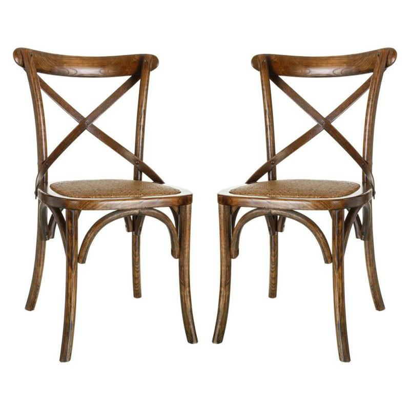 Duo de chaises Bois foncé - BRETT