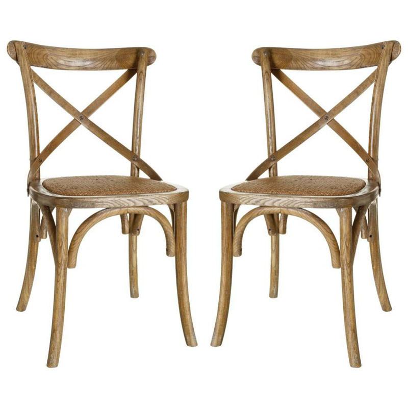 Duo de chaises Bois marron clair - BRETT