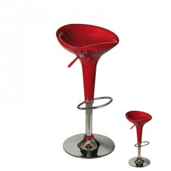 Duo de Tabourets de bar rouge - FLIP