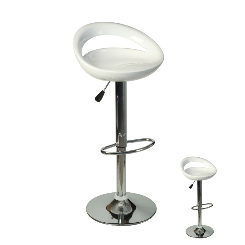 duo de tabouret bar blanc flap univers du salon tousmesmeubles. Black Bedroom Furniture Sets. Home Design Ideas