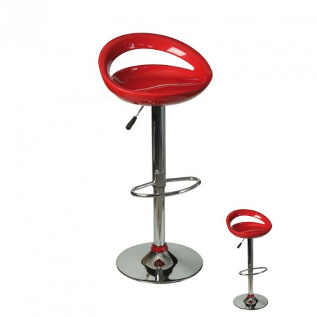 Duo de Tabourets de bar rouge - FLAP