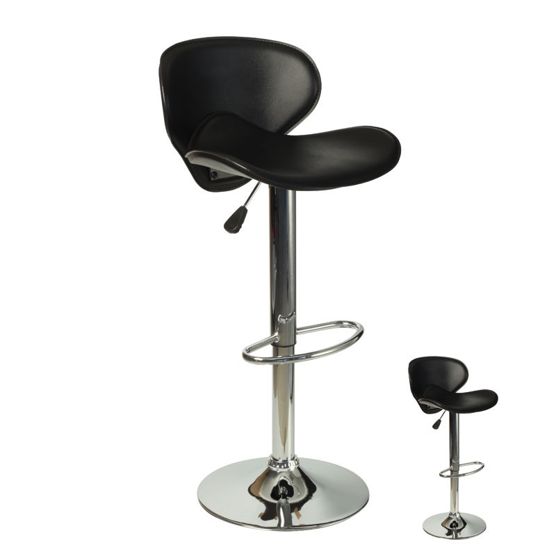 duo de tabouret de bar noir flyn univers du salon tousmesmeubles. Black Bedroom Furniture Sets. Home Design Ideas