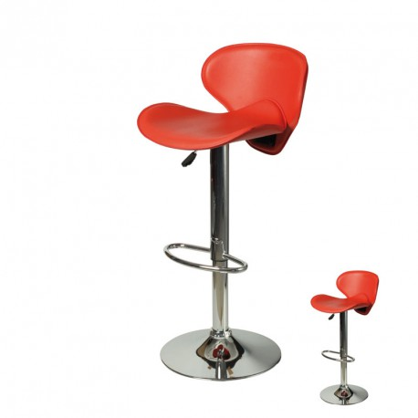 Duo de Tabourets de bar rouge - FLYN