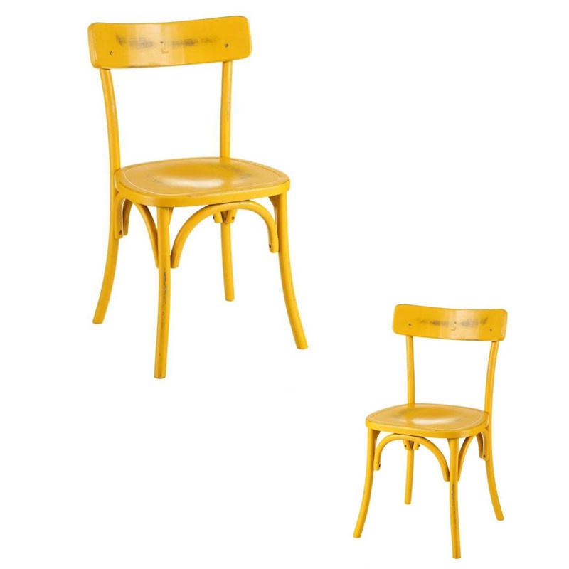 Duo de chaises Bois jaune vieilli - BRETT