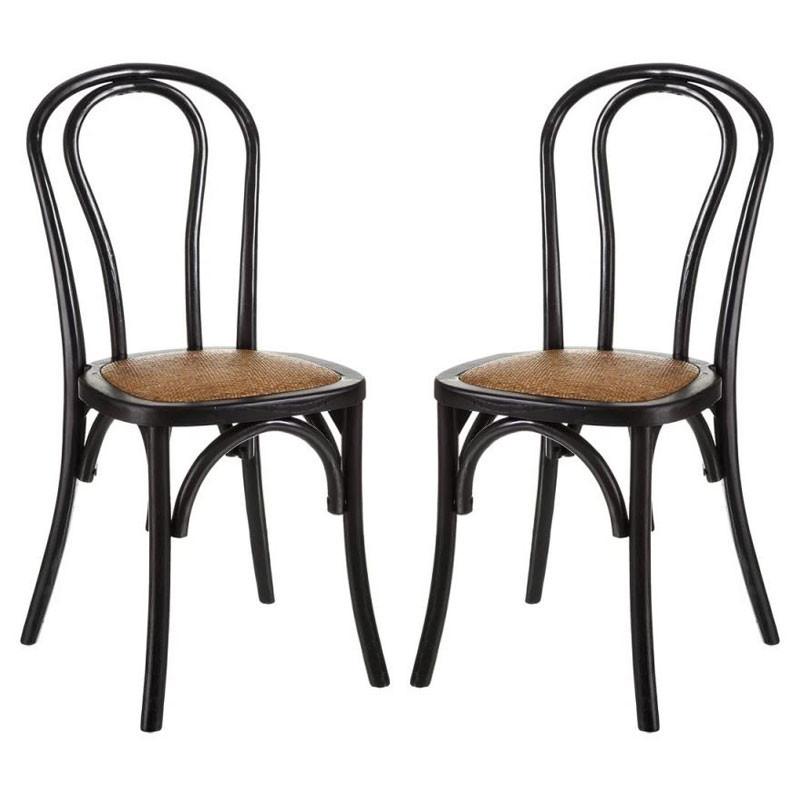 Duo de Chaises Bois noir - BRETT
