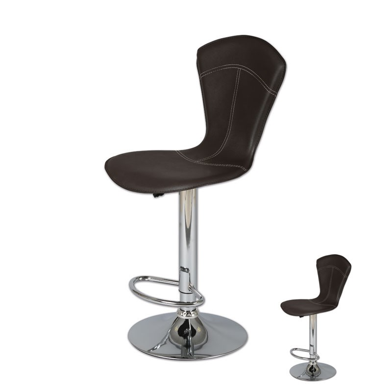 duo de tabourets de bar marron belvia univers du salon tousmesmeubles. Black Bedroom Furniture Sets. Home Design Ideas