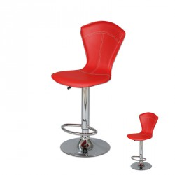 Duo de tabourets de bar Rouge - BELVIA