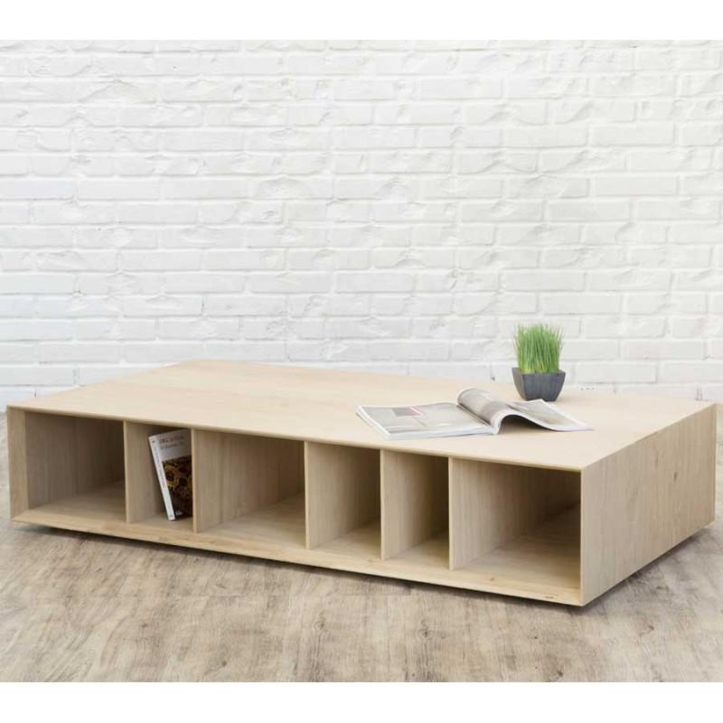 Table basse rectangulaire Chêne massif clair - FAFU