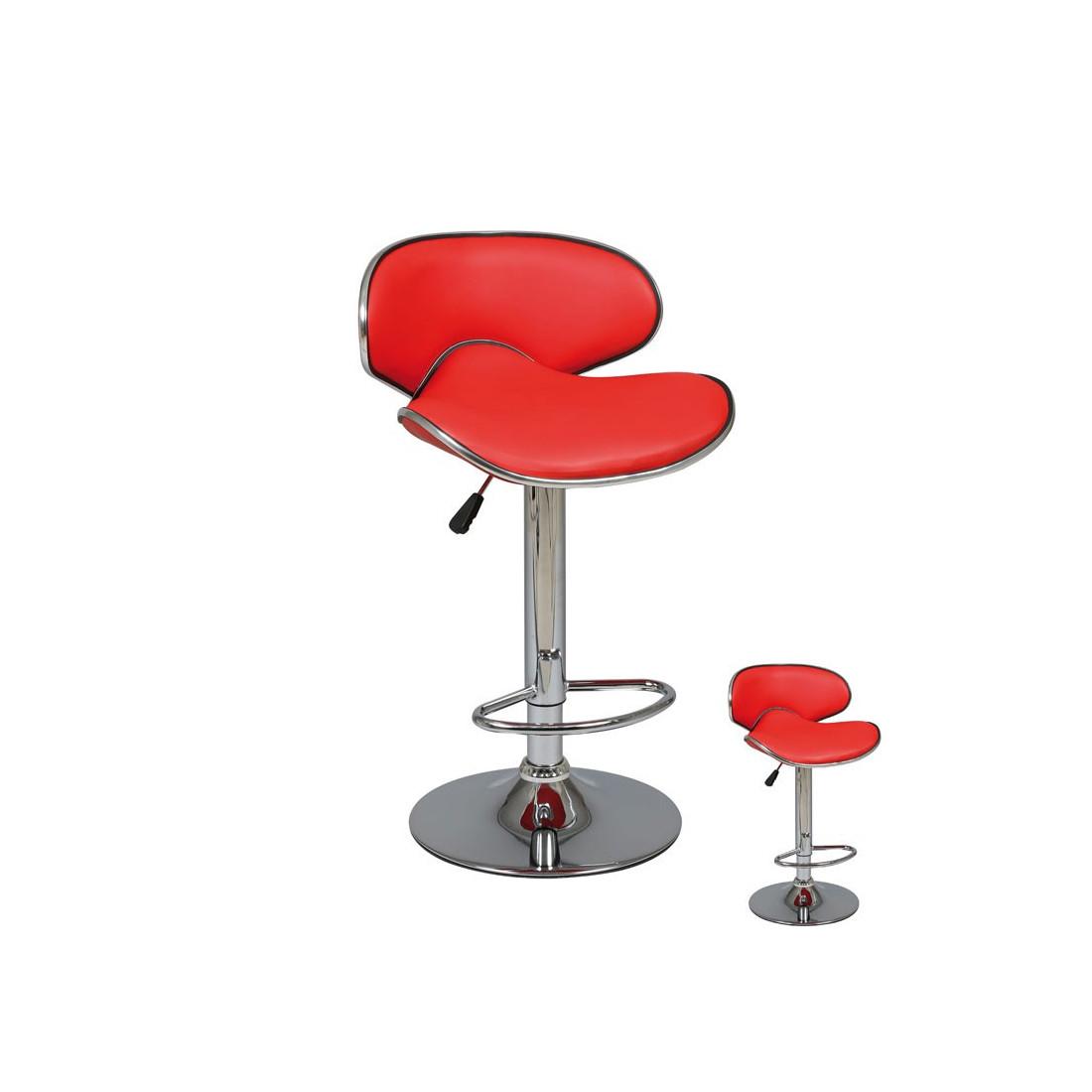 duo de tabourets de bar rouge florance univers du salon tousmesmeubles. Black Bedroom Furniture Sets. Home Design Ideas