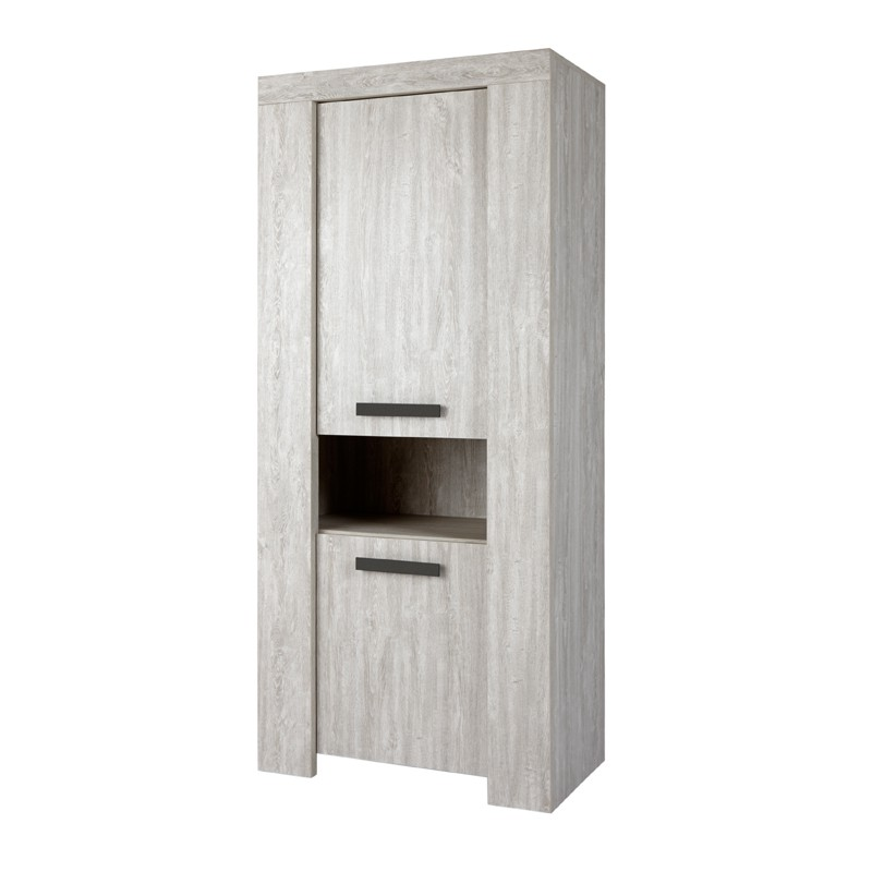 armoire de salon 2 portes 1 niche jacco univers de la salle manger tousmesmeubles. Black Bedroom Furniture Sets. Home Design Ideas
