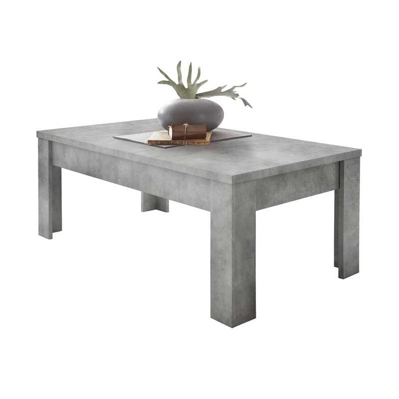 Table basse rectangulaire Béton ciré clair - TICATO