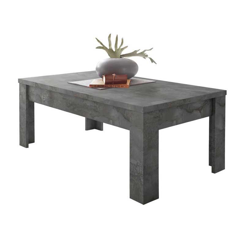 Table basse rectangulaire Béton ciré foncé - TICATO