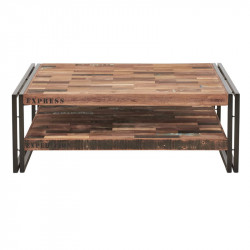 Table basse en bois carrée 100 cm - INDUSTRY