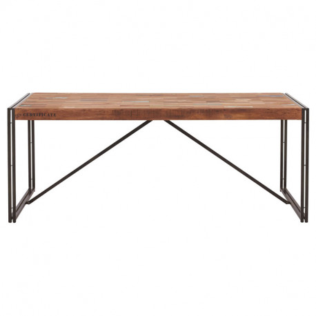 Table de repas en bois rectangle 200 cm - INDUSTRY