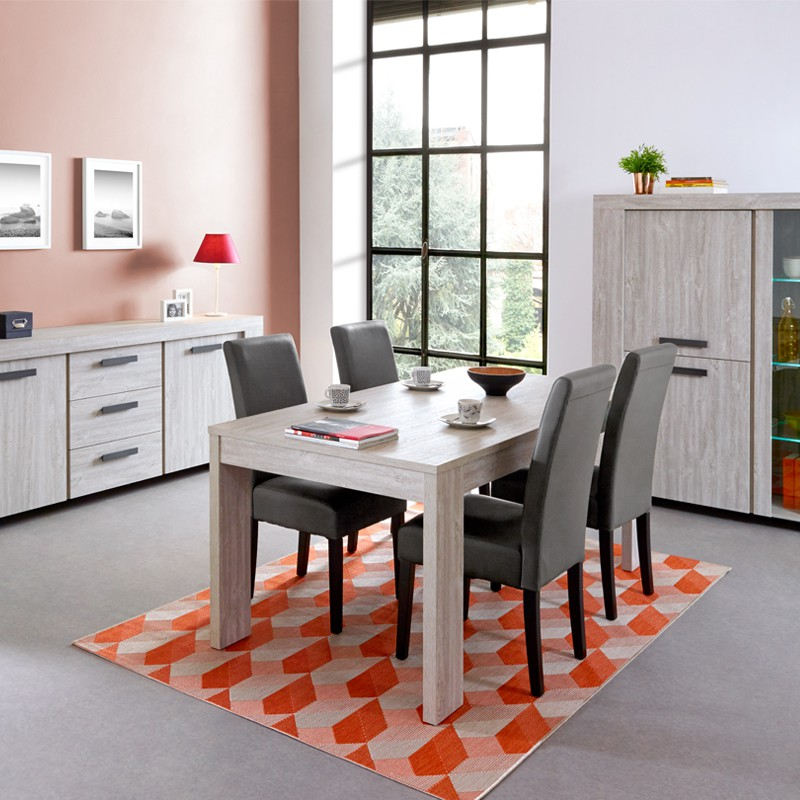table de repas longueur 185 cm jacco univers de la salle. Black Bedroom Furniture Sets. Home Design Ideas