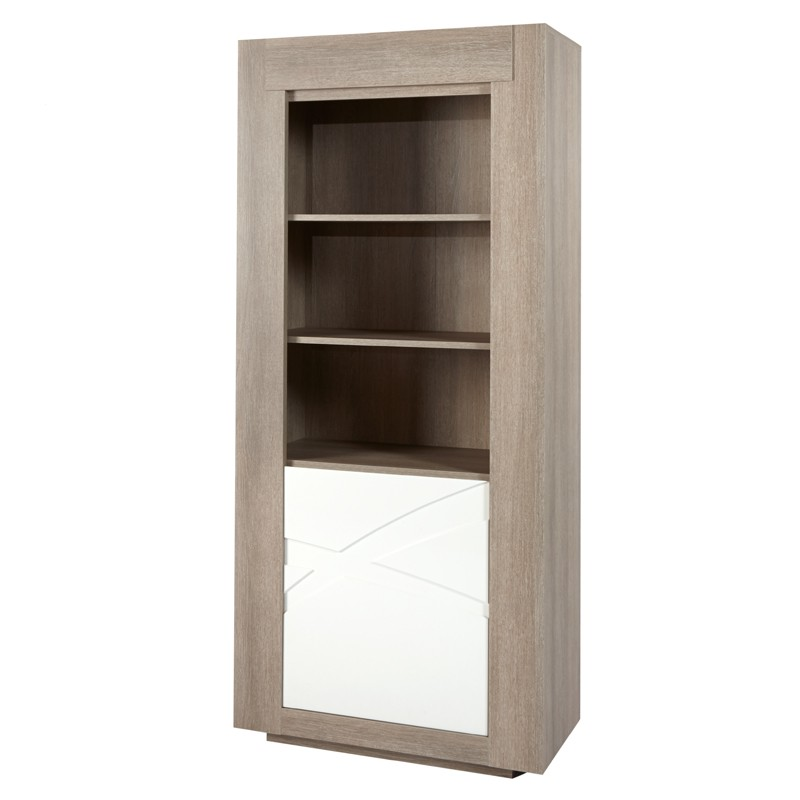 Armoire de salon 1 porte 2 tag res swim univers de la for Armoire de salon en bois