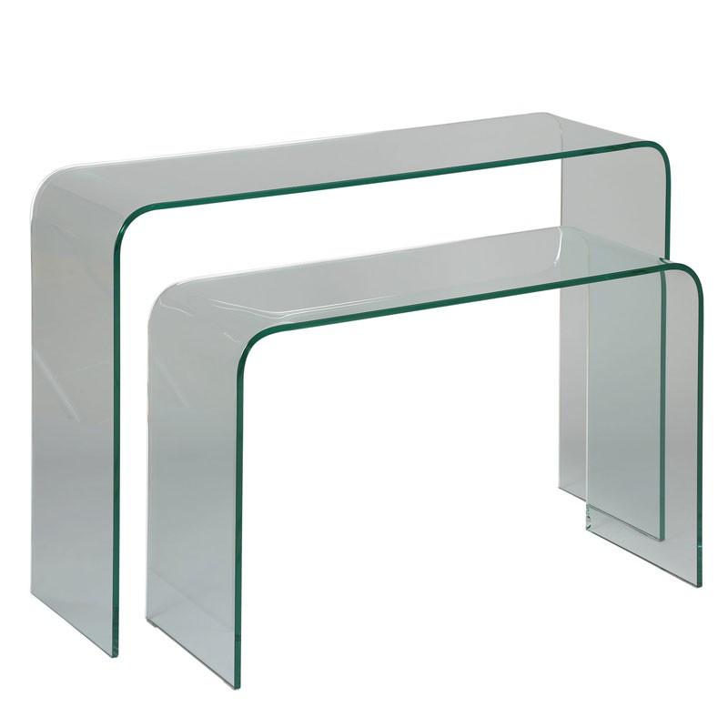 Consoles gigognes en verre - CLEAN