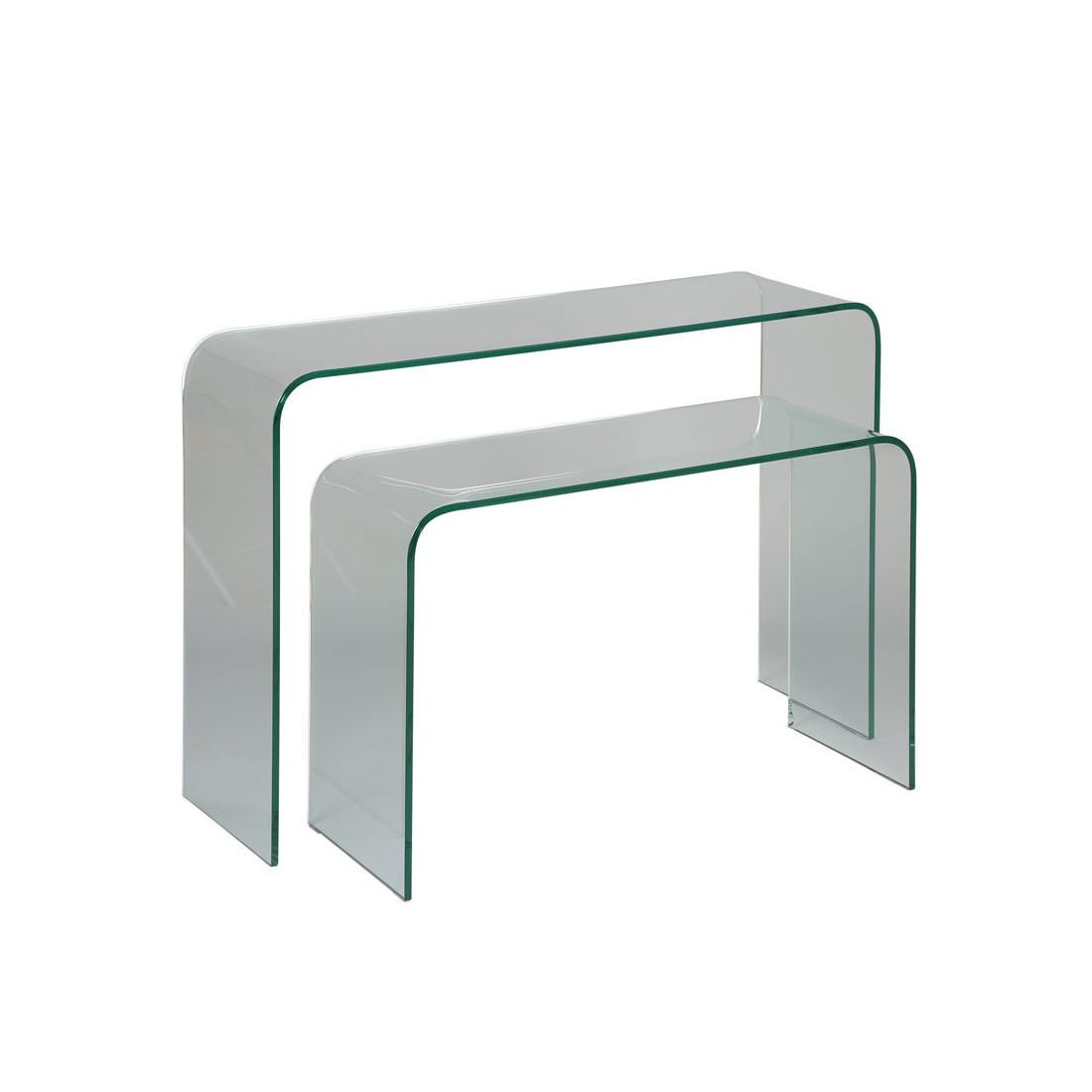 consoles gigognes verre clean univers petits meubles tousmesmeubles. Black Bedroom Furniture Sets. Home Design Ideas
